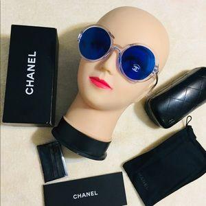 Chanel Blue Round sunglasses 😎